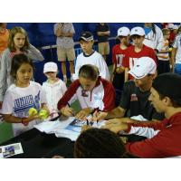 Boston Lobsters Giving Autographs
