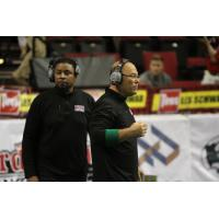 Portland Thunder Head Coach Mike Hohensee (Right)