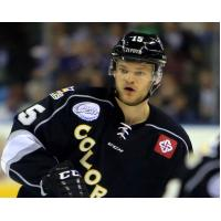 Dax Lauwers with the Colorado Eagles