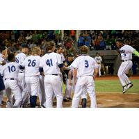 Hillsboro Hops Celebrate Walk-Off Win