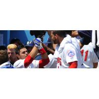 Brandon Brosher of the Brooklyn Cyclones Celebrates Home Run