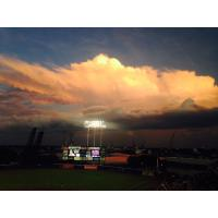 The Sky over Harbor Park in Norfolk, Home of the Norfolk Tides