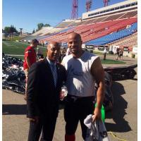 CFL Commissioner Jeffrey L. Orridge Meets 2014 Most Outstanding Canadian, Jon Cornish in Calgary