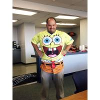 Norfolk Tides General Manager Joe Gregory Wearing SpongeBob SquarePants Jersey