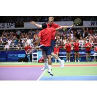 Leander Paes and Sam Querrey of the Washington Kastles