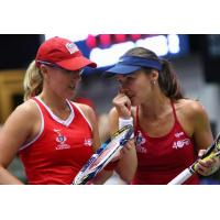 Anastasia Rodionova and Martina Hingis of the Washington Kastles
