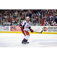Brennan Evans with the Grand Rapids Griffins