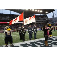 The National Anthem at a Winnipeg Blue Bombers Game