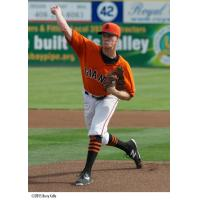 San Jose Giants Pitcher Chase Johnson