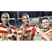 Stefano Pinho, Marlon Freitas, and PC of the Fort Lauderdale Strikers