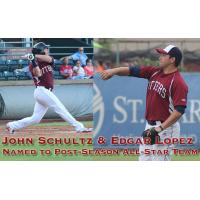John Schultz and Edgar Lopez of the Evansville Otters