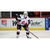 Defenceman Connor Clouston with the Moose Jaw Warriors