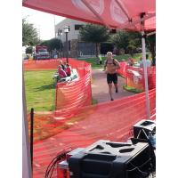 Trevor Ludwig of the Allen Americans Competes in the Cooper Triathlon Series