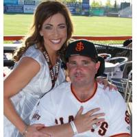San Jose Giants CMO Juliana Paoli and Bryan Stow