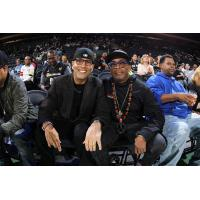 Spike Lee and Luis Ramos Attend WNBA Conference Semi-Finals Game