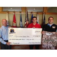 West Virginia Black Bears Present Check to Operation Welcome Home