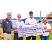 Spokane Indians Present Check to Salvation Army