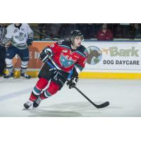 Forward Gage Quinney with the Kelowna Rockets