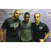 Ricardinho, Patrick Shamu and Renato Pereira of the Dallas Sidekicks