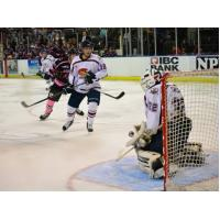 Action in Front of Topeka RoadRunners Goal