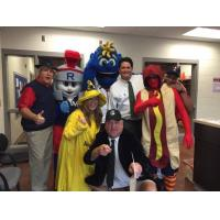 Rome Braves Front Office Staff with Mascots