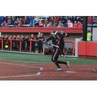 Chicago Bandits Outfielder Brenna Moss at the Plate