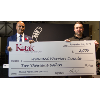 Kotak Law Presents Check to Wounded Warriors Canada