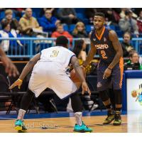 London Lightning Guard Nick Okorie with the Island Storm