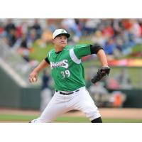 Sal Romano with the Dayton Dragons