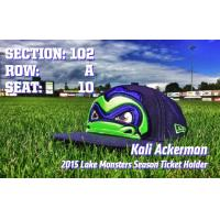 Lake Monsters 2015 Ticket Return Season Ticket Card Design Contest Winner