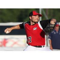Sioux City Explorers Pitcher Patrick Johnson in Action