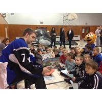 Saint John Sea Dogs Help with Canaport LNG Hat Trick for Reading Program