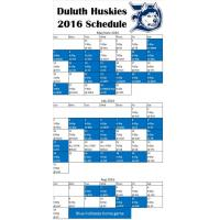 Duluth Huskies 2016 Schedule