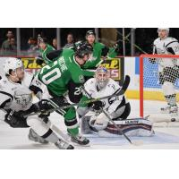 Brett Ritchie of the Texas Stars Scores against the San Antonio Rampage