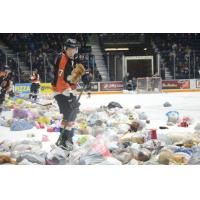 Medicine Hat Tigers Collect Teddy Bears