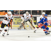 Omaha Lancers and Des Moines Buccaneers Battle for the Puck