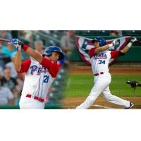 Matt Olson and Renato Nunez with the Stockton Ports