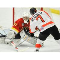 Justin Brausen of the Danville Dashers Shoots agains the Dayton Demolition