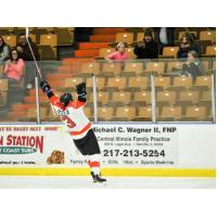 Andrew Harrison of the Danville Dashers Celebrates a Goal