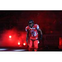 DB Varmah Sonie during Pregame Introductions with the Portland Thunder