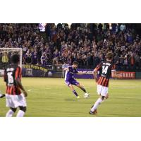 Aodhan Quinn of Louisville City FC Controls the Ball
