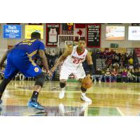 Jordan Mickey of the Maine Red Claws Prepares to Drive