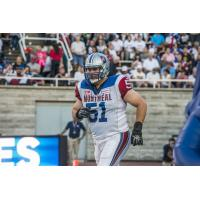 Montreal Alouettes Offensive Lineman Kristian Matte