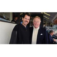 Russ Langer with Vin Scully