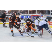 Omaha Lancers Defend their Goal vs. the Sioux Falls Stampede