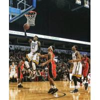 Tyshawn Patterson of the London Lightning Heads toward the Hoop