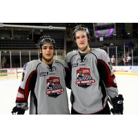 Cam Morrison and Luke McInnis of the Youngstown Phantoms