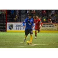 Kraig Chiles of the San Diego Sockers Heads Upfield