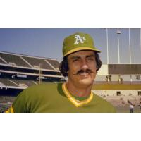 Baseball Hall of Famer Rollie Fingers with the Oakland A's