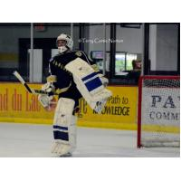 Janesville Jets Goaltender Warms Up
